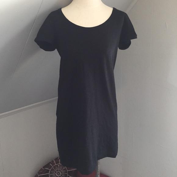 32d94ef27eef6 GAP Dresses   Black Heathered Mini Tshirt Dress   Poshmark